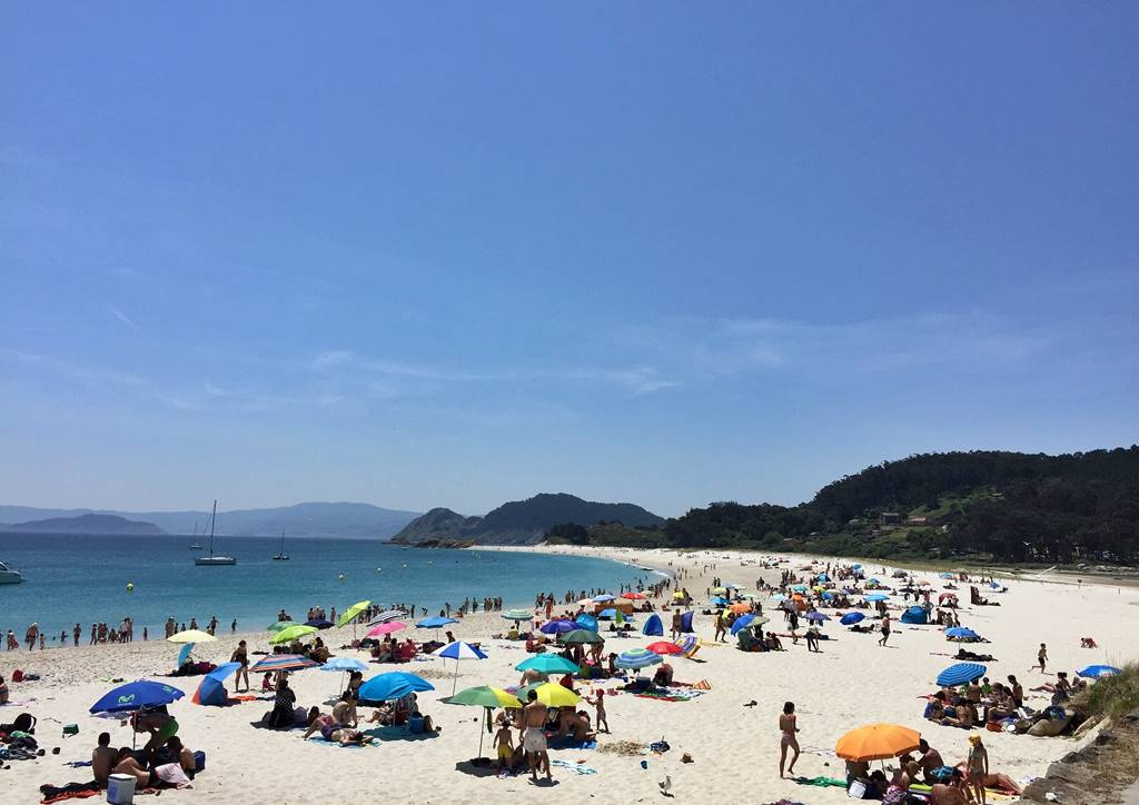 Visor cartográfico: playas con bandera azul en Vigo